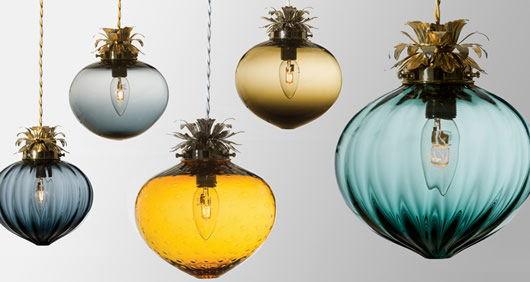 Handblown glass lighting