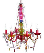 Multicolour chandelier