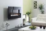Contemporary wallmounted fire