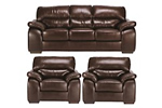 Leather sofas and armchairs