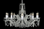10 light gold and crystal chandelier