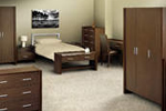 Wenge flat pack bedroom furniture set