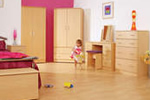 Fully assembled beech bedroom furniture