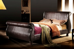 Leather bedstead