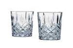Cut glass whisky tumblers