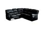 Leather recliner corner group