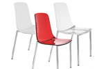Acrylic dining chairs