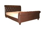 Chesterfield leather bed