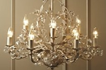 Antique style crystal chandelier