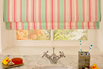 Pleated roman blinds