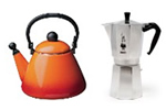 Stove top kettle and coffee
