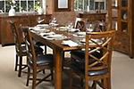 Solid wood table and crossback chairs