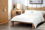 Traditional oak bedstead
