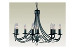 Traditional ironwork ceiling light