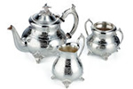 Silverplated teaset