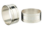 Silverplated napkin rings