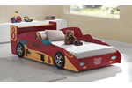 Boy's racing car bed