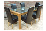 Dining set, leather dining chairs