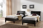Leather single beds