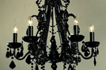 French black chandelier