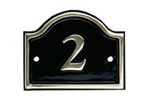 Brass house number