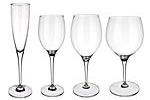 Plain glass wine glasses