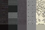 Fabric by the metre, greys and blacks