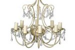 Laura Ashley eight light chandelier