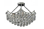 Semi flush chandelier