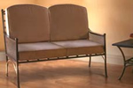 Mark Francis iron sofa
