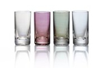 Coloured glass water tumblers