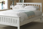 White painted solid oak bed