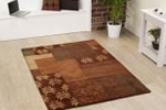 Terracotta coloured rug