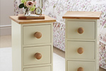 Buttermilk pine bedside tables