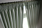 Plain bedroom curtains