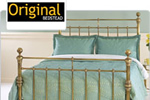 Walnut Italian bedstead with gold decoration