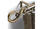 Metal curtain pole