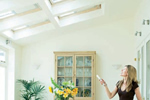 Remote control velux window blinds