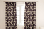 Aubergine colour curtains