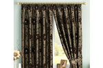 Chocolate coloured curtains